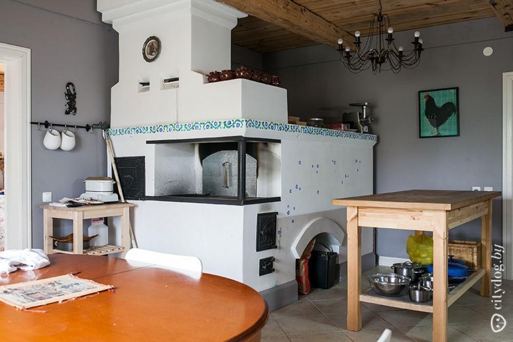 Ремонт кухни в деревенском доме своими руками с печкой 7