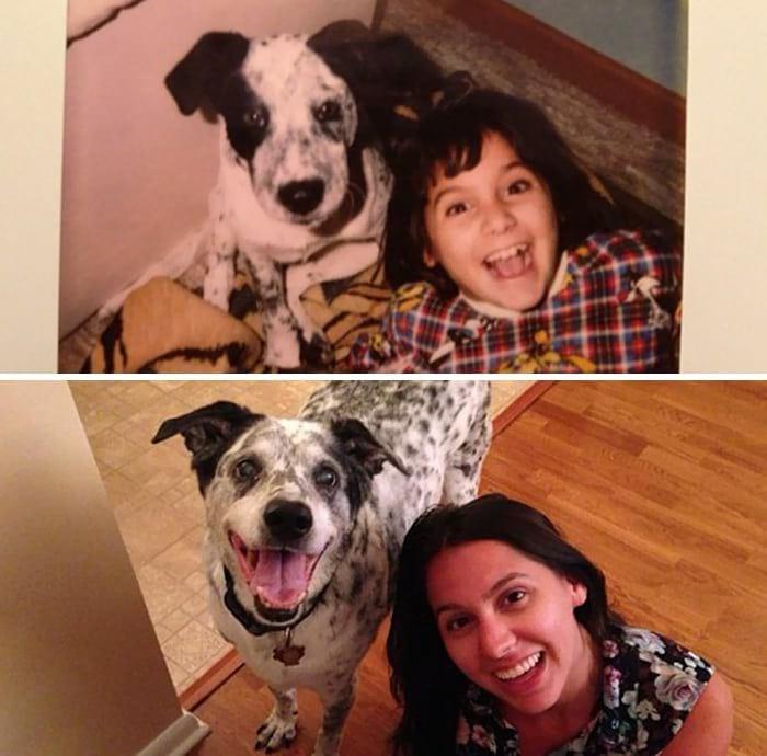 20 собак, выросших вместе со своими владельцами (20 фото)
