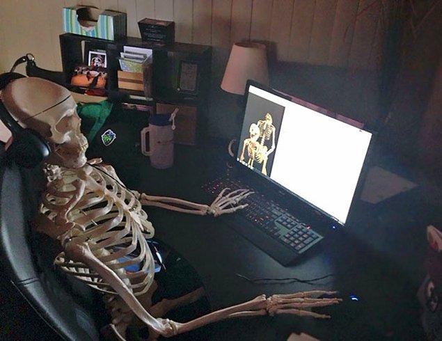 """""""Моя жена притащила домой этот пластиковый скелет. Вот, что я увидел, когда вошел в комнату"""""""