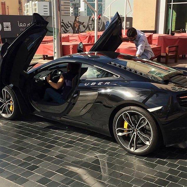Обычный вызов Uber в Дубаи 👌