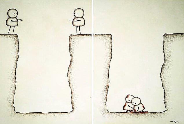 Порой отношения - это очень больно
