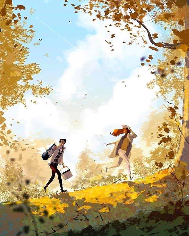 Ходить вместе на пикник