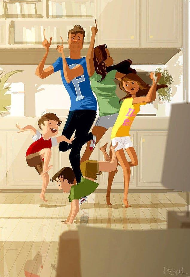 Проводить время с семьёй