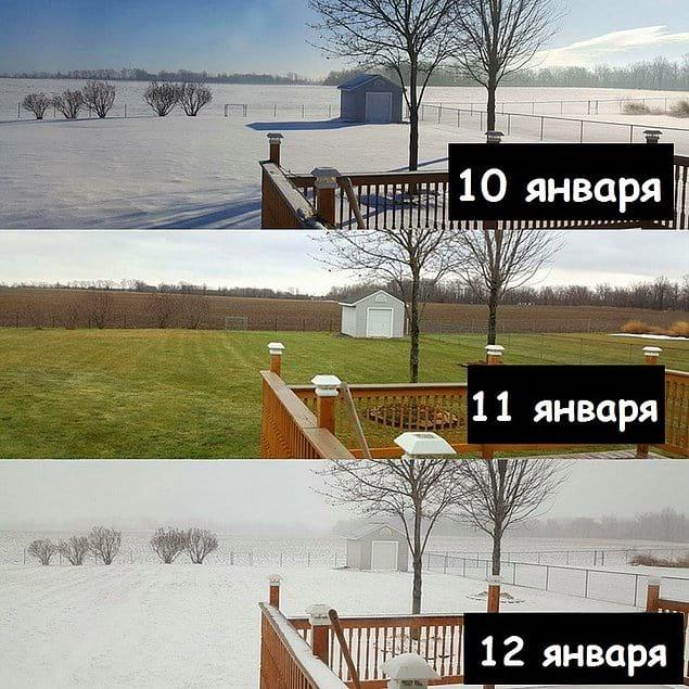 Зима, весна, снова зима. И все это за три дня. Погода, ты пьяна!