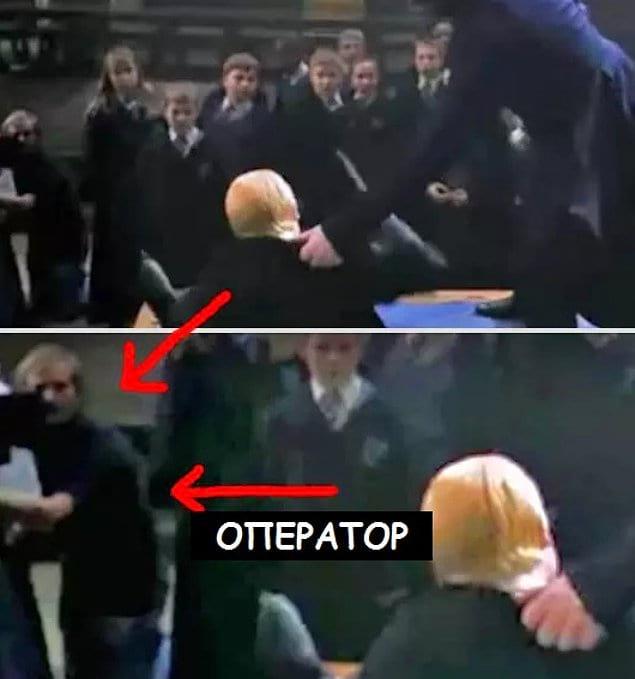 """В """"Гарри Поттере и тайной комнате"""" в сцене дуэли Драко и Гарри можно заметить оператора"""