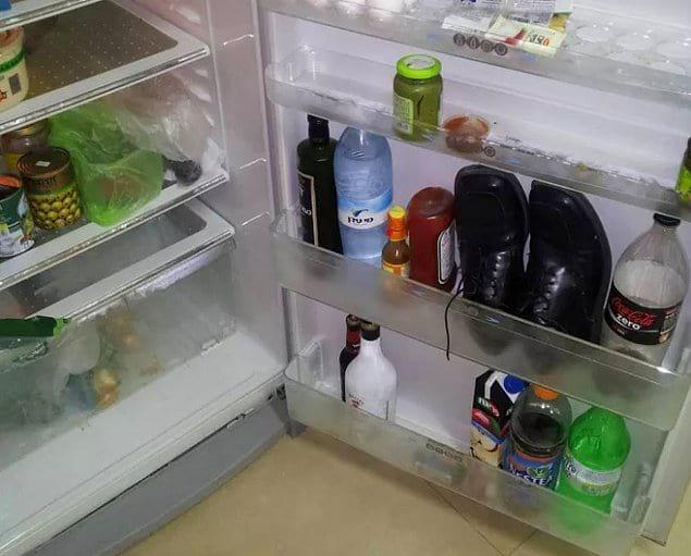 """""""Пришел вчера домой жутко пьяным. Сегодня захотел приготовить завтрак, открыл холодильник и увидел вот такую картину"""""""