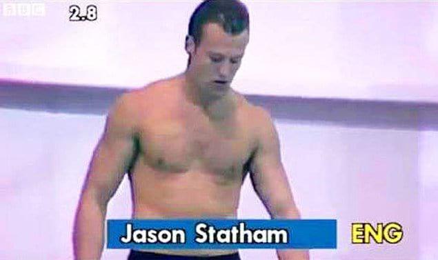 Джейсон Стейтем был профессиональным прыгуном в воду, прежде чем занялся актерской карьерой