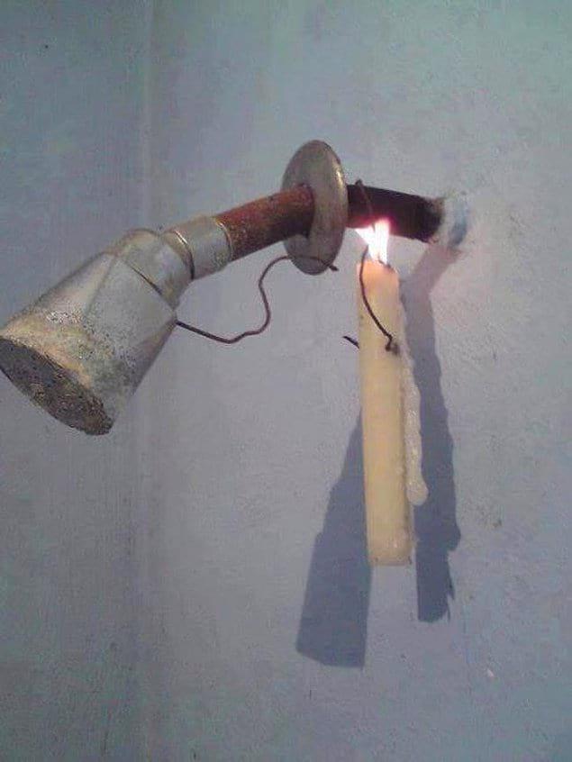Чего только не придумаешь, когда нет горячей воды