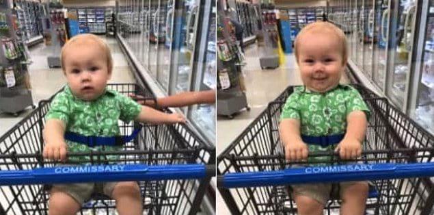 «До и после того, как я сказал малышу, что он красавчик»