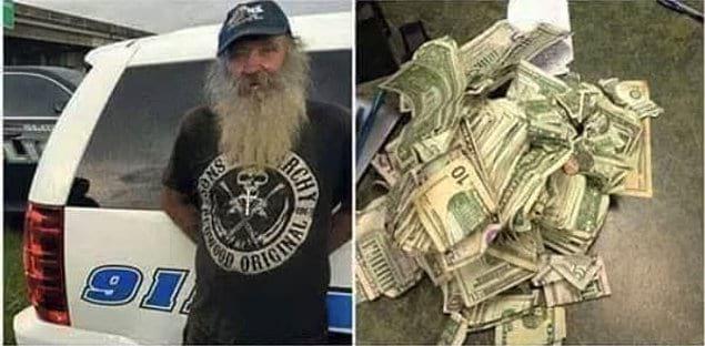 «Мужчина на фото нашел $2400 и принес деньги в полицию. Этот поступок вдохновил людей на сбор средств для него, и в общей сложности было пожертвовано $5000. Но мужчина вновь отказался от денег, заявив, что ему всего лишь нужна работа»