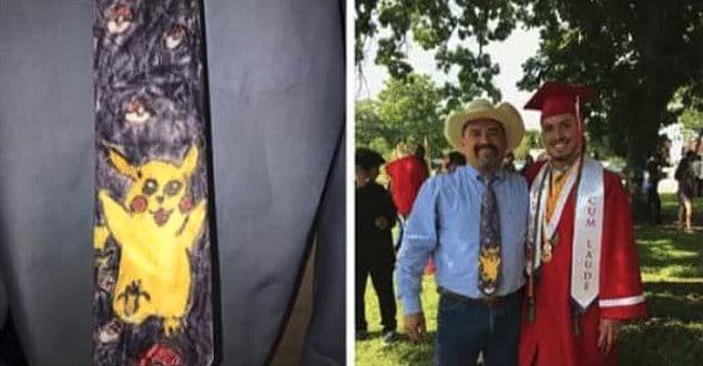 «Я сделал этот галстук для своего папы, когда пошел в первый класс. Сегодня он надел его на мой выпускной»