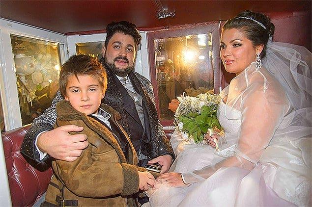 Анна Нетребко и сын Тьяго