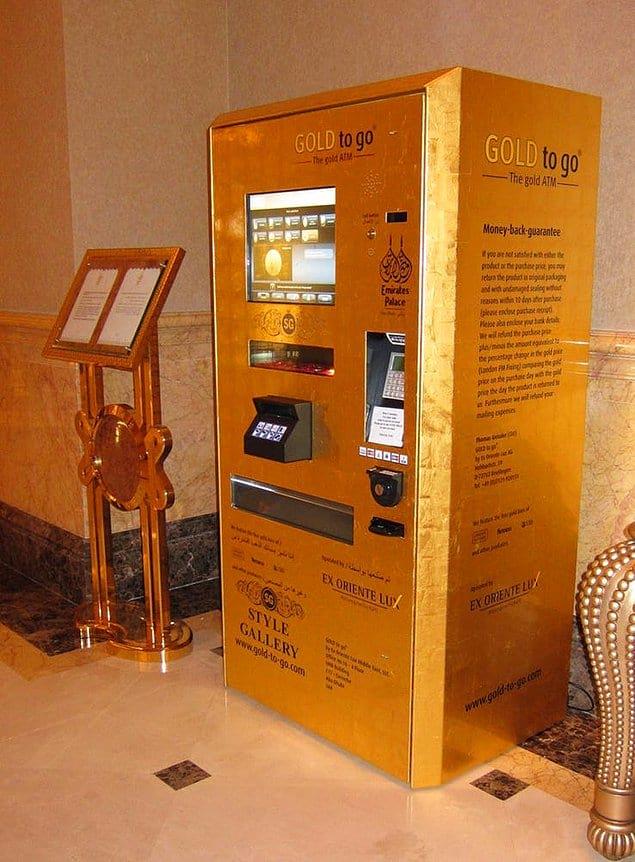 Банкоматы, выдающие золотые слитки