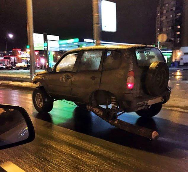 Бревно вместо колеса?