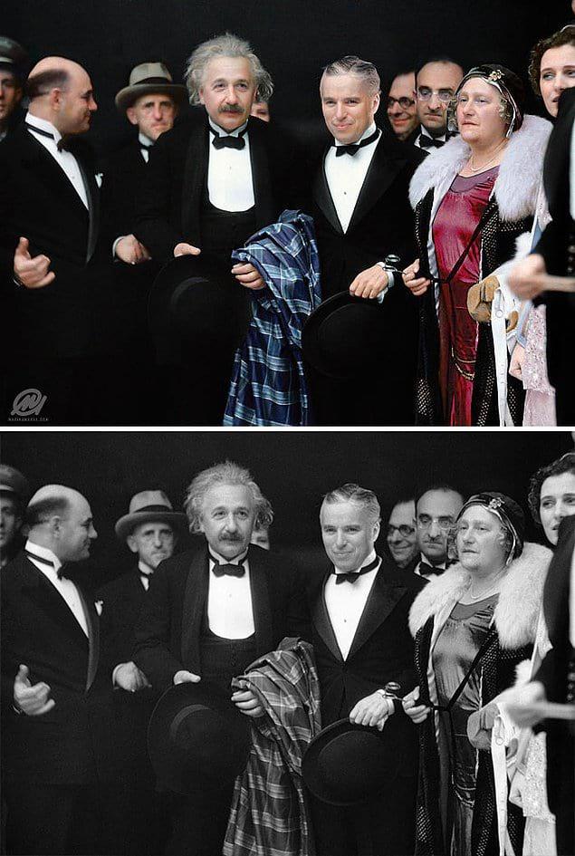 Эйнштейн и Чаплин.