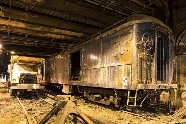Говорят, что Рузвельт садился на этой станции в поезд и ездил до Центрального парка. Вот это развлечение!