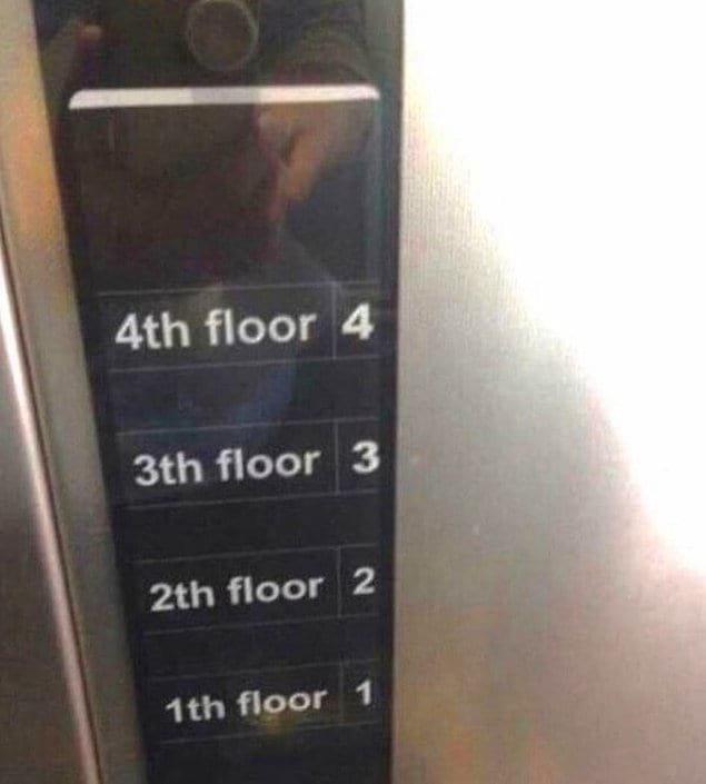 Кнопки лифта для полных идиотов