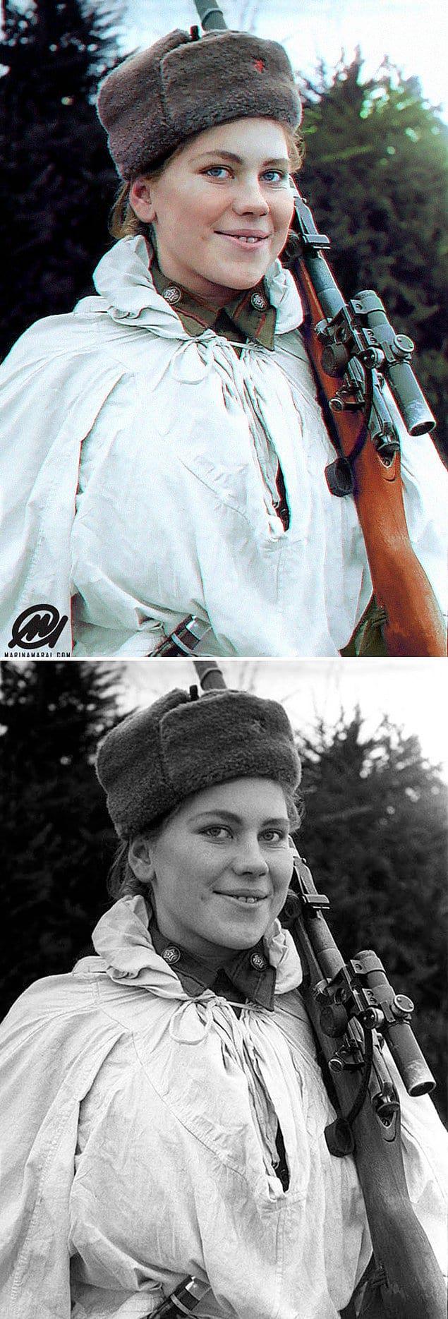 Роза Шанина - советский снайпер, принимавшая участие во Второй мировой войне.