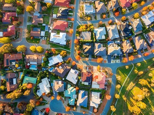 Аккуратные пригородные районы в далекой Австралии.