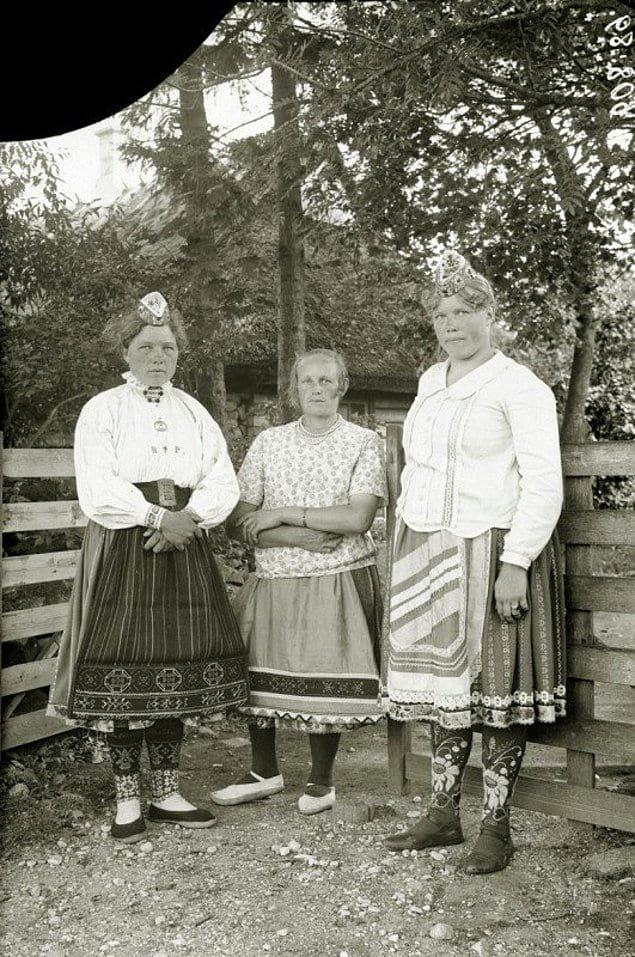 Крестьянки Лифляндской губернии. Российская империя. 1913год.