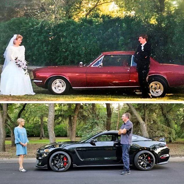 Милая пара, возродившая момент со своей свадьбы в ее 25-ую годовщину!