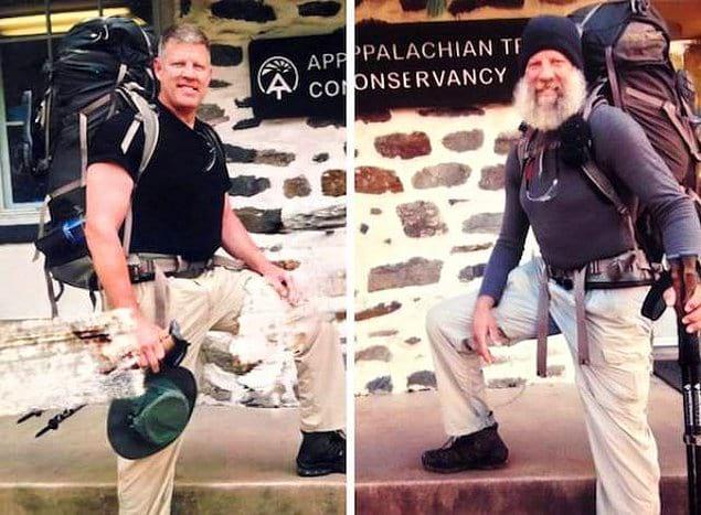 «Мой дядя ходил в поход по Аппалачской тропе. Фото «до и после». Первое сделано 1 мая, второе – 16 декабря»