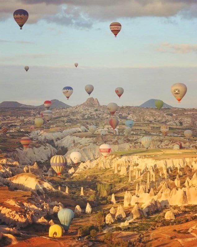 Не пожалеть 60 долларов на перелет из Стамбула в Каппадокию, чтобы запечатлеть этот невероятный вид!