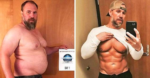 Парень сбросил 36 кг за 6 месяцев