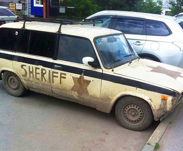 Русские шерифы с полным отсутствие пафоса...