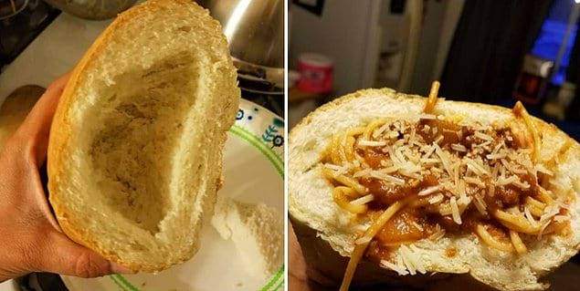 Багет + спагетти: как вам такое сочетание?