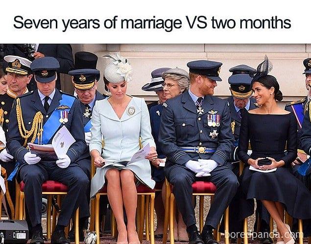 Когда ты в браке семь лет / и два месяца.