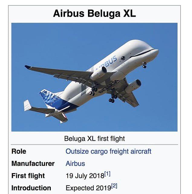 Новая модель самолета называется Air Beluga XL, и она совершила свой первый полет буквально пару месяцев назад - в июле 2018 года.