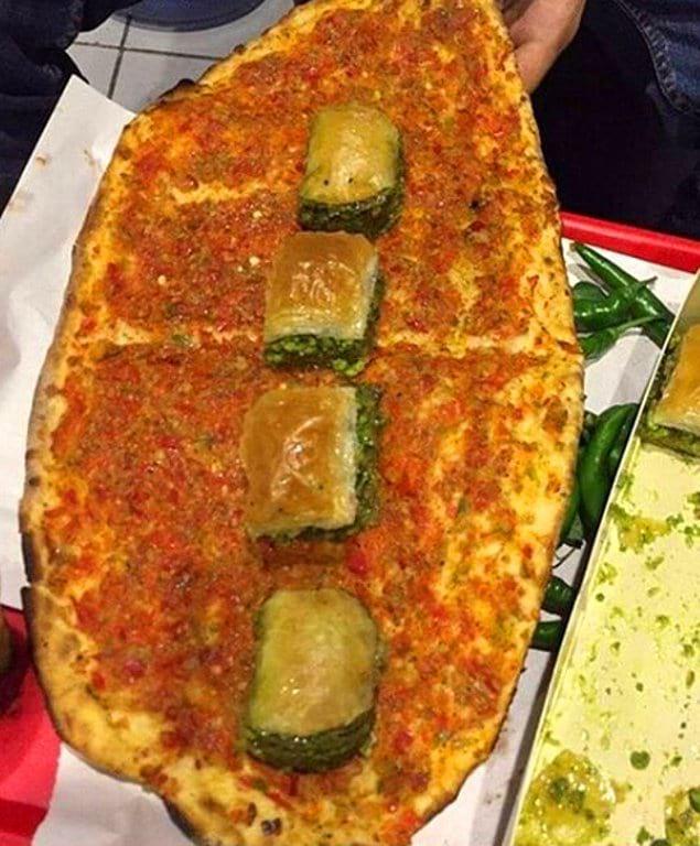 Пахлава и восточная пицца?! О нет!