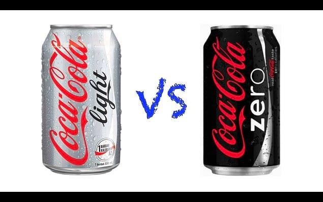 Разница между Кола Лайт и Зеро
