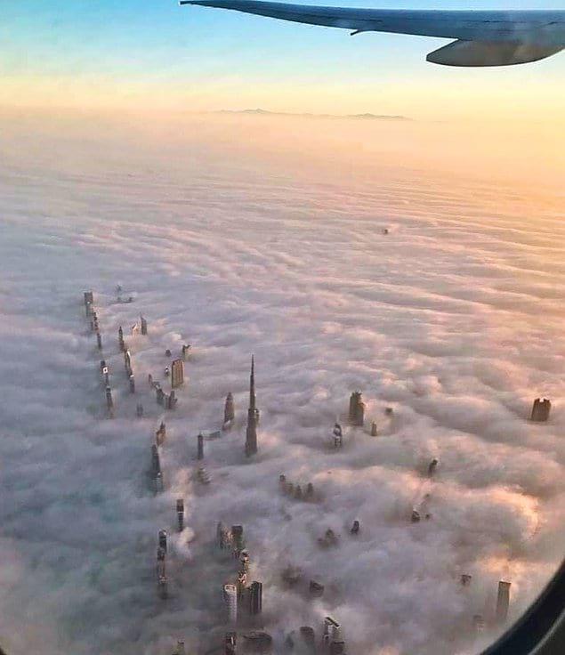 Самолёт над Дубаем запечатлел вот такие виды 😍