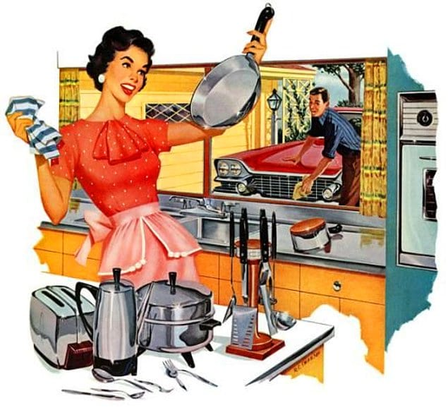 Запомните, хорошая жена всегда знает свое место.