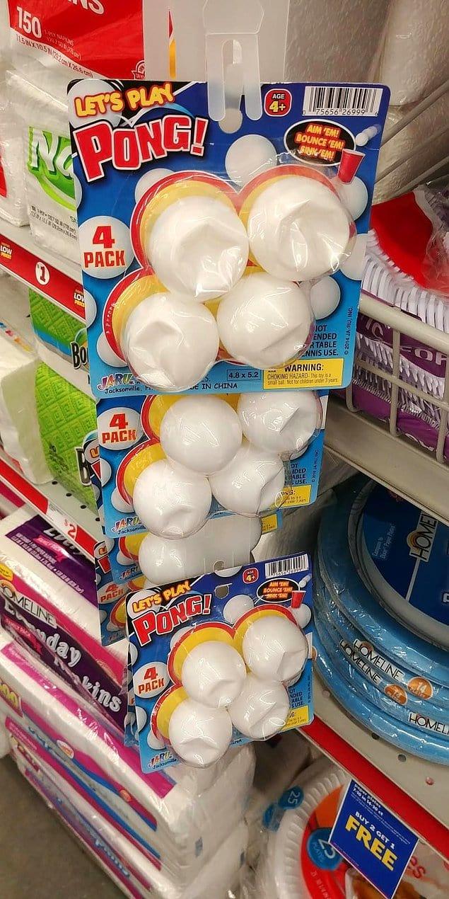 Что вы думаете по поводу покупателей, испортивших эти шарики для пин-понга просто потому, что им так захотелось?