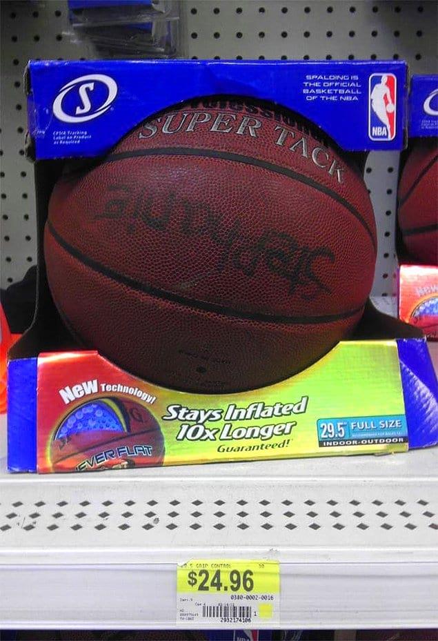 Покупателю, который заменил новый баскетбольный мяч на старый, тоже в карму полетят минусы