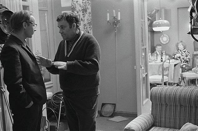 Режиссер Эльдар Рязанов и Андрей Мягков (Новосельцев), «Служебный роман».
