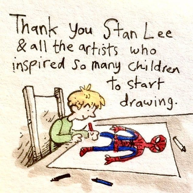 """""""Спасибо тебе, Стэн, что вдохновил стольких детей на рисование!"""""""