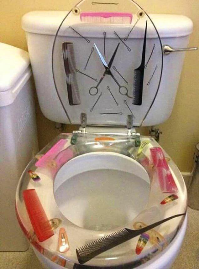 Туалет в одном из салонов красоты