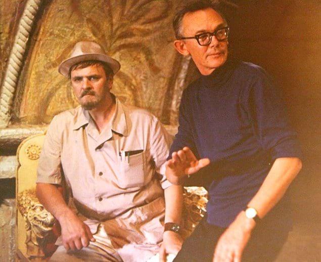 Юрий Яковлев и Леонид Гайдай на съёмках того же фильма.