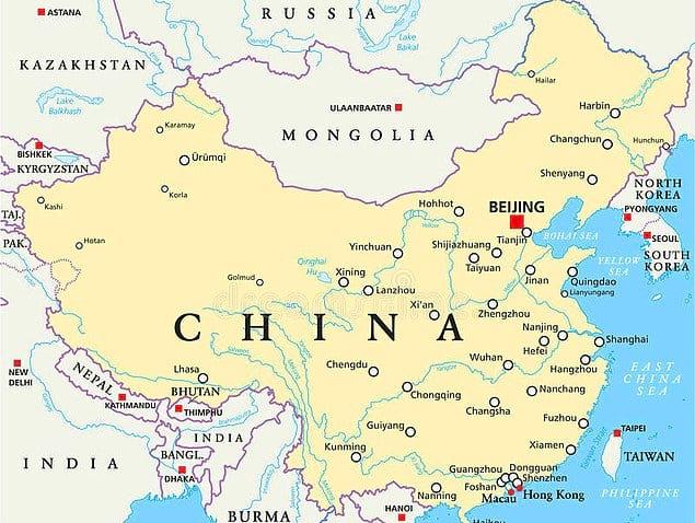 С востока на запад длина Китая равна расстоянию между Англией и Нигерией