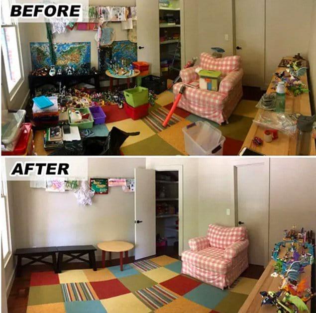 Такое пространство гораздо больше подойдет для игр детей, не правда ли?