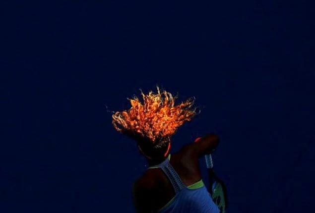 Теннисистка из Японии - Наоми Осака в огненном матче против румынки Симоны Халеп.