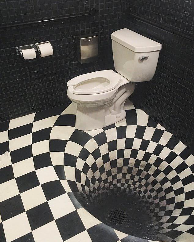 """Зашел в туалет, а попал в кроличью нору из """"Алисы в Стране чудес"""""""