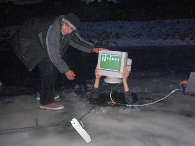 Что только не происходит на рыбалке...