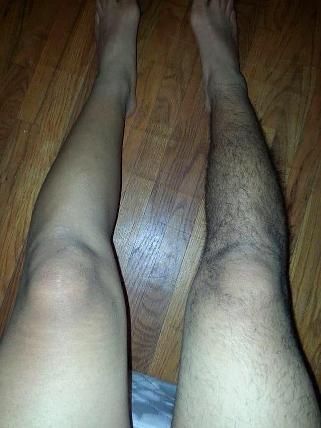 Что уж там говорить о том, чтобы побрить ногу на пьяную голову. Одну... Будучи мужчиной...