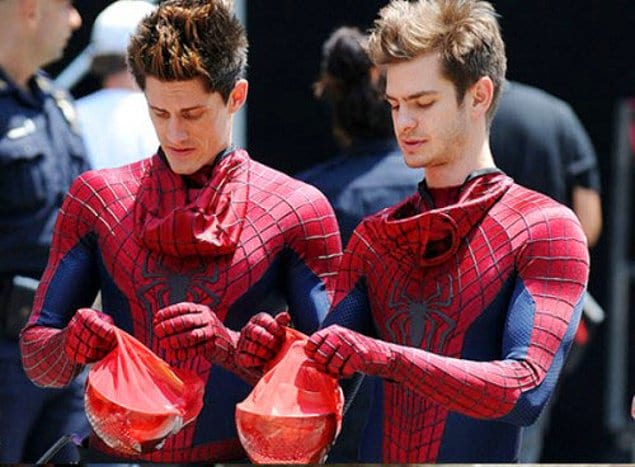 """Эндрю Гарфилд практически синхронизировался со своим дублером — """"Новый Человек-паук"""""""