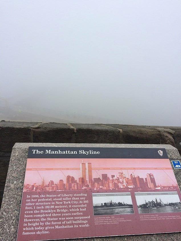 Когда пришел увидеть знаменитый вид на Манхэттен...